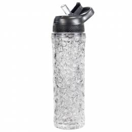 OGGI Freezer Gel Iced Water Bottle in Black