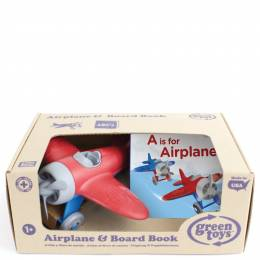 Green Toys A is for Airplane Board Book and Toy Set