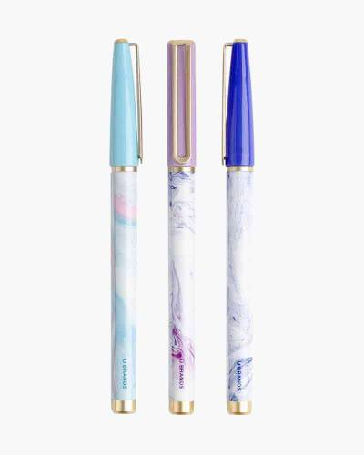 The Catalina Marble Swirl Porous Tip Pens (Set of 3)