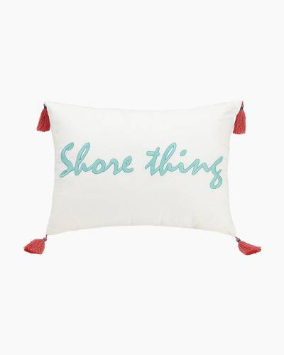 Go Fish Embroidered Ribbon Pillow (Rectangle)