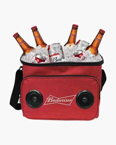 Budweiser Soft Cooler Bag with Speakers