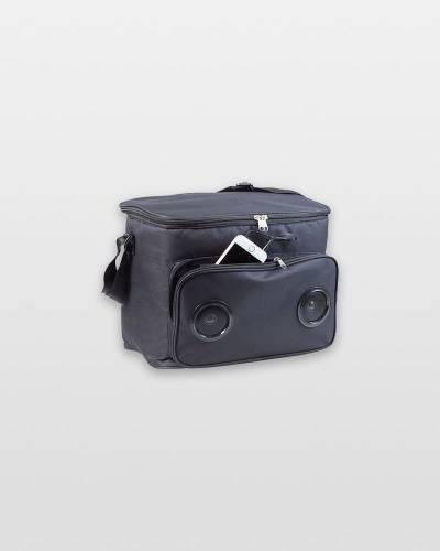 Soft Cooler Bag with Speakers (Black)
