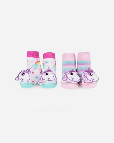 Unicorn Rattle Socks Set (0-12 M)
