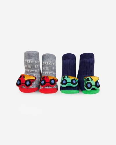 Truck Rattle Socks Set (0-12 M)