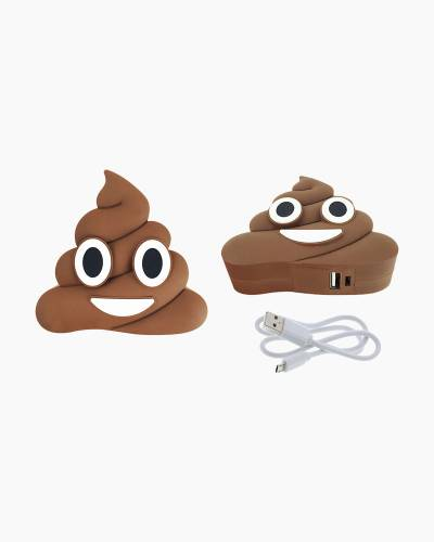 Poop Emoji Portable Power Bank Charger