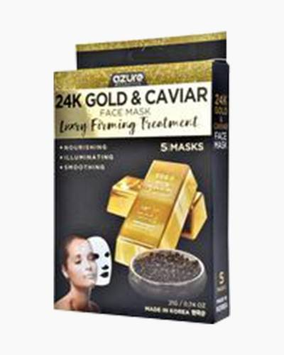 24K Gold and Caviar Face Masks (5-Pack)