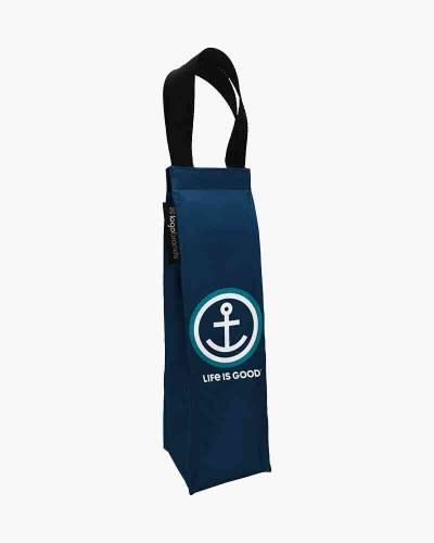 Life is Good Anchor Wine Tote