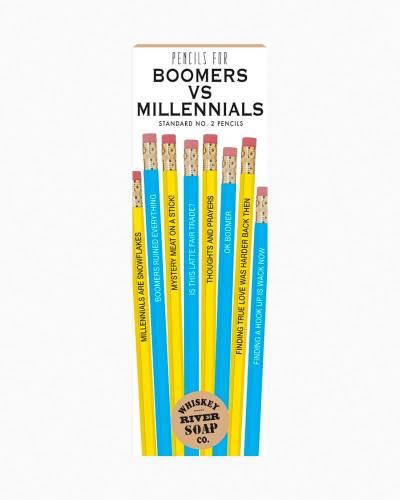 Pencils for Boomers Vs Millennials