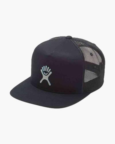 Reflective Logo Trucker Hat in Black