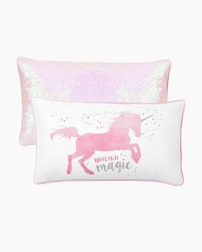 Unicorn Magic Mermaid Sequin Pillow