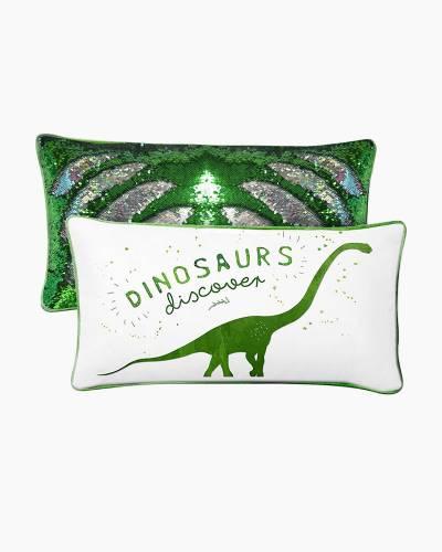 Dinosaurs Magic Mermaid Sequin Pillow