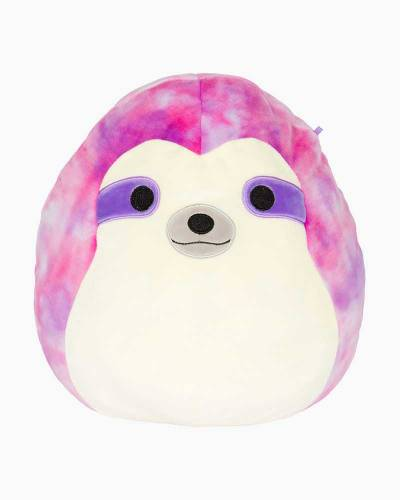 Sharie the Tie-Dye Pink Sloth Super Soft Plush Toy