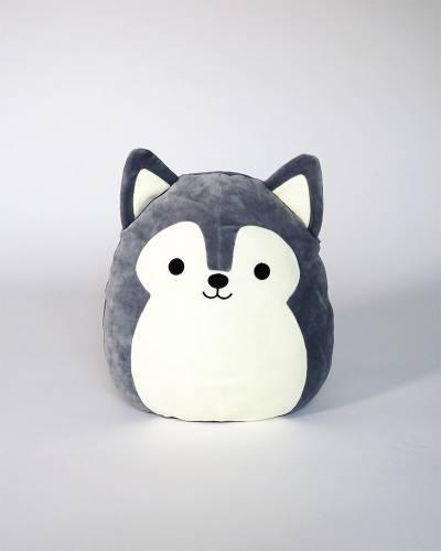 Grey Husky Super Soft Plush Toy (12 in)