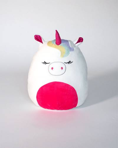 White Unicorn with Pink Accents Super Soft Plush Toy (12 in)