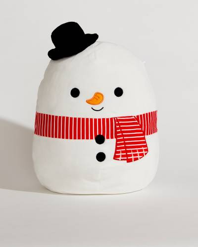 Snowman with Red Scarf Super Soft Plush Toy (12 in)