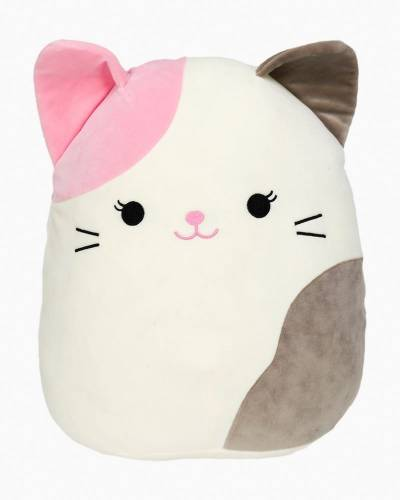 Pink and Grey Cat Super Soft Plush Toy (12 in)