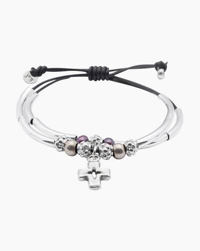 Faith Bracelet with Silver Cross Charm