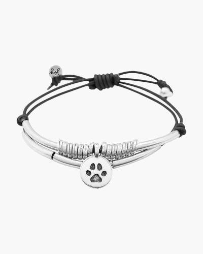 Calm Bracelet with Silver Paw Print Charm