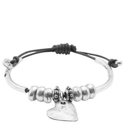 Heartfelt Bracelet with Silver Heart Charm