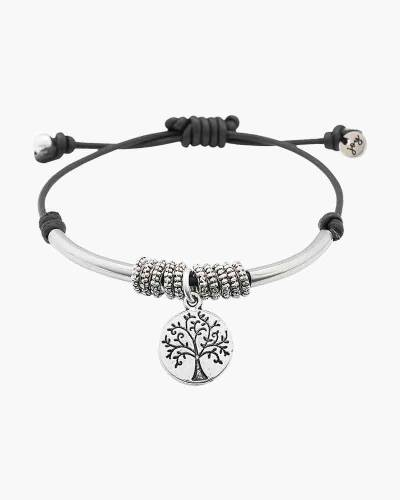 Nature Bracelet with Silver Tree of Life Charm