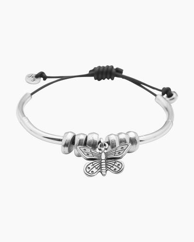 Monarch Bracelet with Silver Butterfly Charm