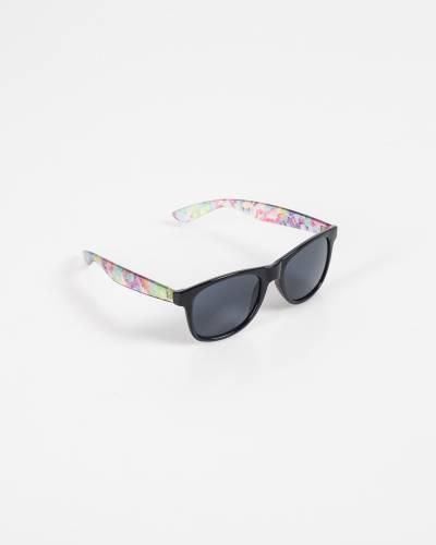Wayfarer Sunglasses in Black and Floral