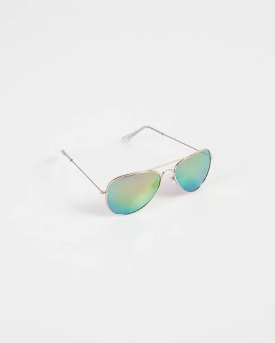 Aviator Sunglasses in Rainbow and Rose Gold