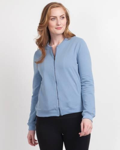 Exclusive Zip-Up Sweatshirt in Blue