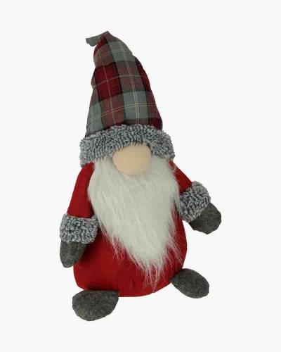 Red Plaid Standing Decorative Plush Gnome