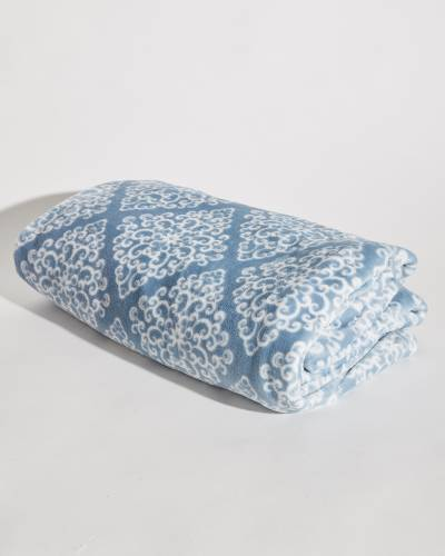 Blue Tally Oversized Plush Throw