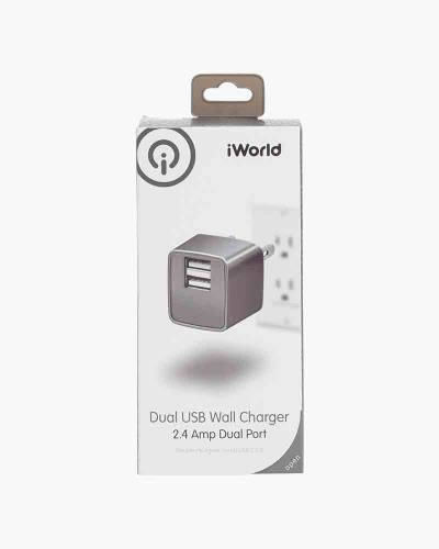 Dual USB Wall Charger (Silver)