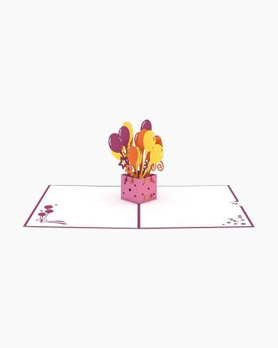 Balloon Bouquet 3D Pop Up Card