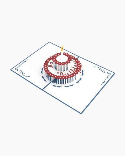 Birthday Cake 3D Pop Up Card