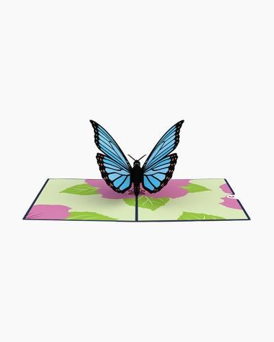 Blue Morpho Butterfly 3D Pop Up Card