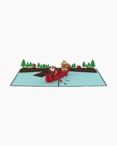 Canoe 3D Pop Up Card