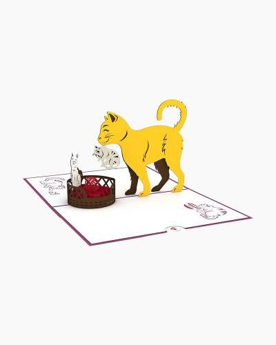 Cat Family 3D Pop Up Card