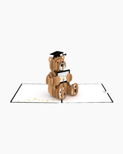 Graduation Bear 3D Pop Up Card