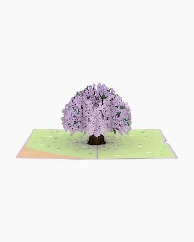 Jacaranda Tree 3D Pop Up Card