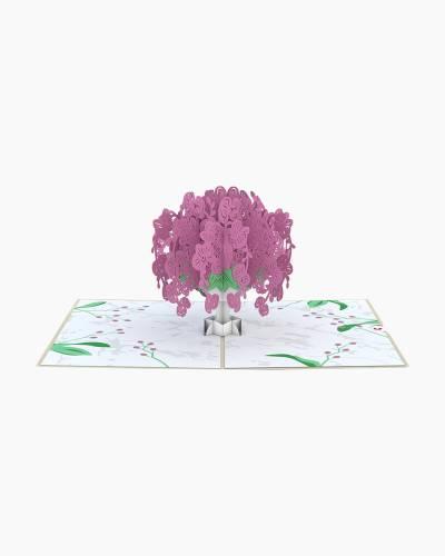 Orchid Bouquet 3D Pop Up Card