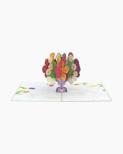 Tulip Bouquet 3D Pop Up Card