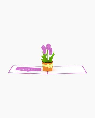 Tulips Gift Card Holder 3D Card