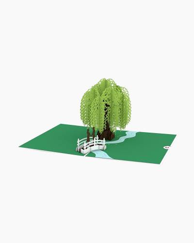 Willow Love Scene 3D Pop Up Card