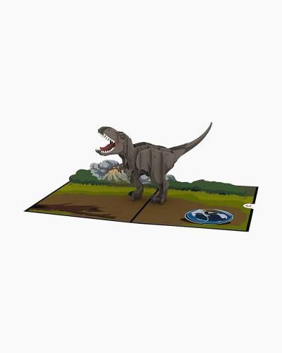 Jurassic World T-Rex 3D Pop Up Card