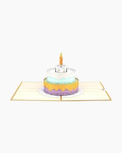 Happy Birthday Cake 3D Pop Up Card