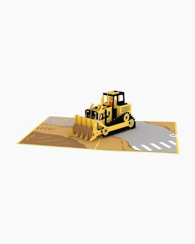 Bulldozer 3D Pop Up Card