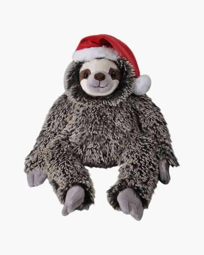 Festive Sloth with Santa Hat Plush