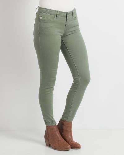 Olive Stretch Skinny Jeans