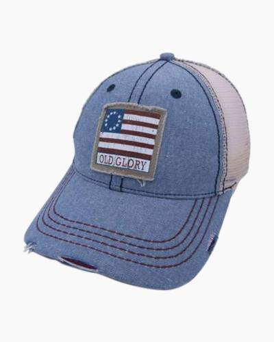 Old Glory American Flag Distressed Cap