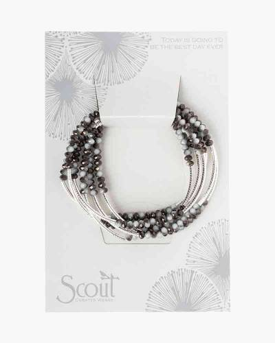 Eclipse/Silver Convertible Bracelet and Necklace