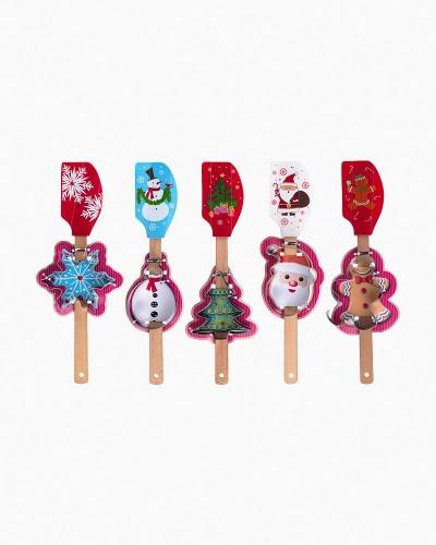 Holiday Baking Spatula and Cookie Cutter Gift Set (Assorted)